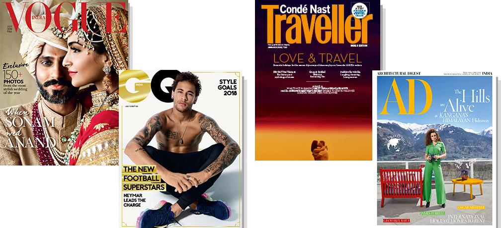 Vogue + GQ + CNT + AD - Print 1 Yr + Free Gift