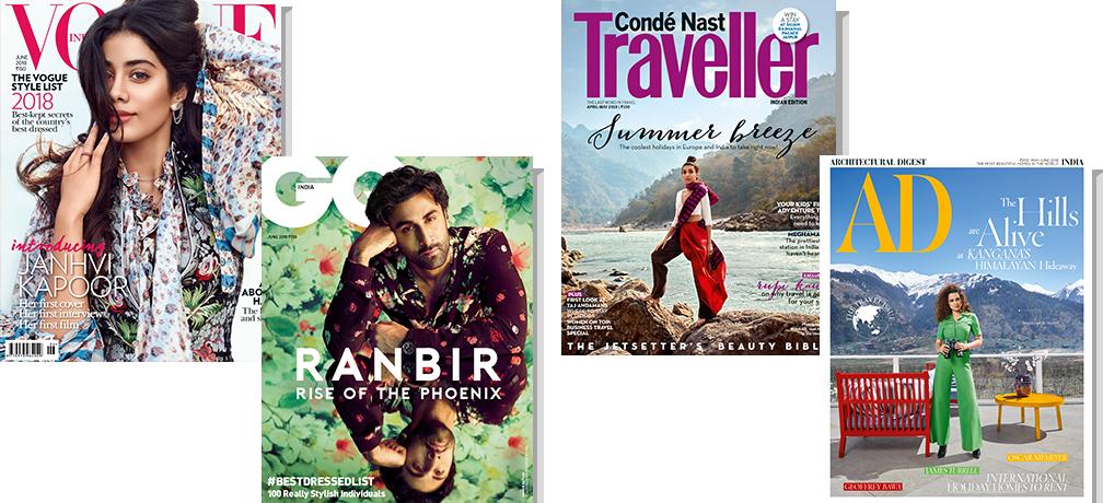 Vogue + GQ + CNT + AD - Print 1 Yr