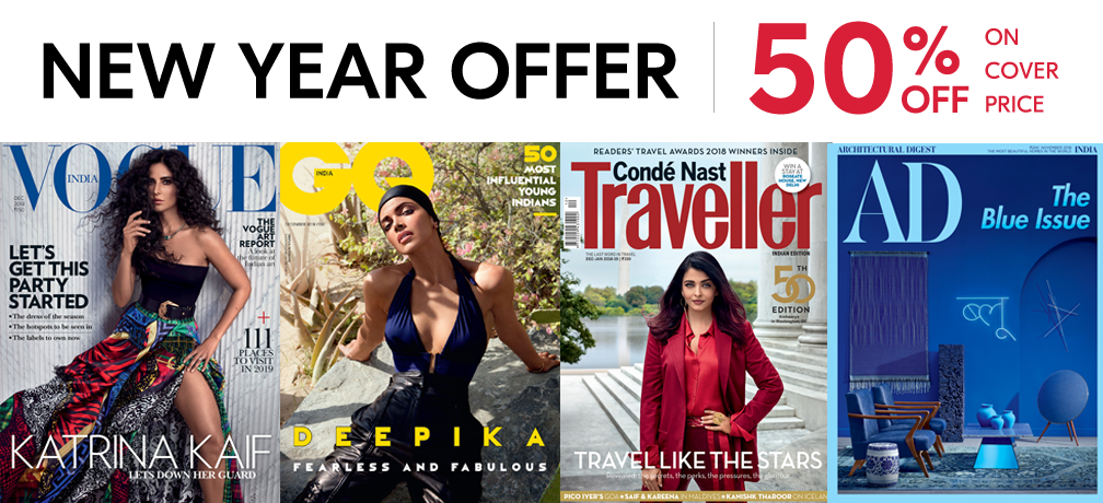 GQ + Vogue + CNT + AD - Print 1 Year + Free Gift
