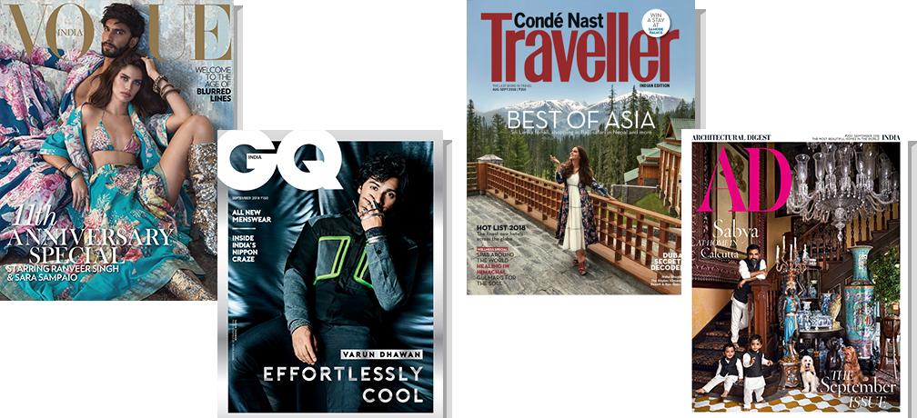 Vogue + GQ + CNT + AD  Print 1 Year