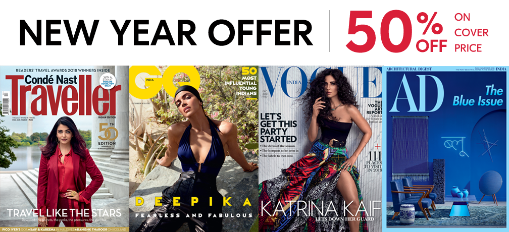 Vogue + GQ + CNT + AD - Print 1 Year + Free Gift
